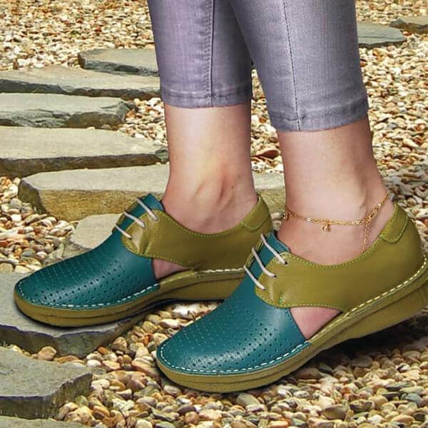 کفش طبی زنانه چرم معراج کد431